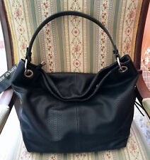 Borsa RIPANI mod. MARSALA a Sacca Nero Pelle + Tracolla - Women's Bag by RIPANI