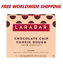 Larabar Chocolate Chip Cookie Dough Bars Gluten Free 5 CT 8 Oz WORLD SHIP