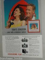 1941 KODAK Camera advertisement, Kodachrome Film, Miniature (35mm) cameras