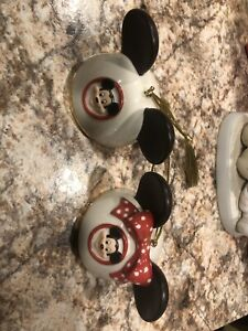 DISNEY MINNIE MOUSE EARS HAT ORNAMENT Lenox Christmas Tree Mickey Ceramic