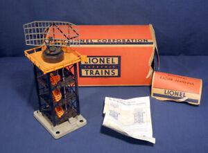 Lionel Trains #197 Rotating Radar Antenna Tower Never Used Original Box Instr.