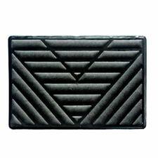 Black PVC Car Floor Carpet Pad Heel Foot Mat Pedal Patch Cover 25cm x 15 LSX