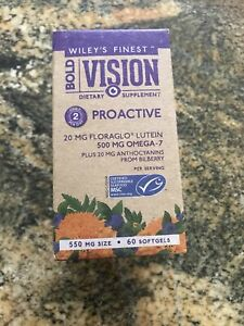 Wiley's Finest Bold Vision ProActive Eye Support 60 Softgels. Omega-7, Lutein.