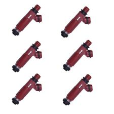 6 FUEL INJECTORS FITS MITSUBISHI PAJERO NM 6G74 3.5 V6 00-04 RED INJECTOR DENSO