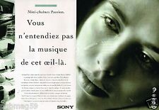 Publicité Advertising 1995 (2 pages) Sony Chaine Hi-Fi mini