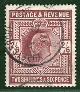 GB KEVII Stamp SG.316 Somerset House 2s/6d VFU Used 1911 CDS Cat £200+50% RED25