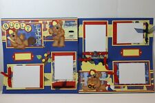 Built Tough ~  2 pre-made scrapbook pages paper piecing layout