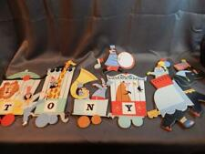 Vintage Circus Animals & Train Pressed Cardboard Collectible Nursery Wall Art