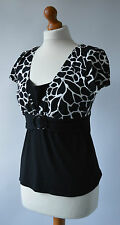 Señoras Star By Julien Macdonald Black & White Top Talla 12