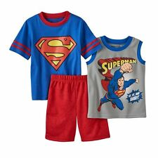 Toddler boy superman 3 piece set Size 2  - 2 tops and shorts - BNWT