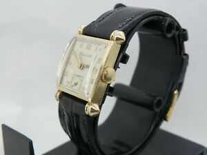 SERVICED  1940`s BULOVA * Knickerbocker *MEN`S WATCH.....NEW CRYSTAL & STRAP