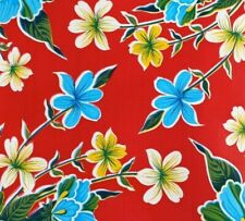 New Mexican Oilcloth Fabric Tablecloth PVC Cotton Waterproof 120 cm Red Flowers