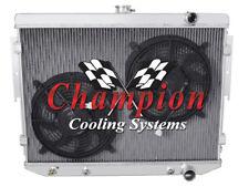 "4 Row Aluminum Champion Radiator W/ 2 12"" Fans for 1978 Dodge Magnum V8 Engine"