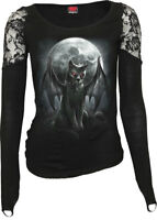 SPIRAL DIRECT VAMP CAT Shoulder Lace Top/Bat/Vampire/Horror/Wings/Gothic/Skull