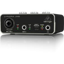 BEHRINGER U-PHORIA UM2 USB 2x2 Black Audio Interface from Japan DHL