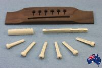 Acoustic Guitar Bridge rosewood+nut+saddle+Pins  Guitar Accessories NEW