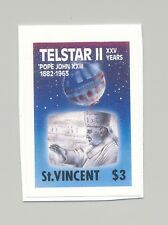 St Vincent #1169 Telestar II, Space, Pope 1v Imperf Proof Changed Date