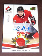 14-15 UD Team Canada Sam Reinhart World Juniors Auto Patch 23/125 1/1 HIS JSY#