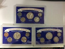 3 Americana Series Coin Collections in Red Case