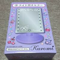 Kuromi Sanrio Mirror with Light(lottery giveaway) Cute Lovely Kawai Rare F/S