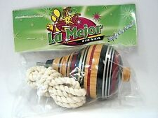 Decorated Wooden Spinning Top Toy / Trompo de Madera Decorado Made in Mexico