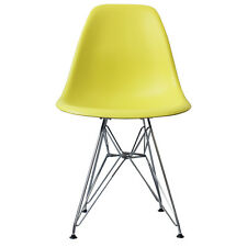 Side Dining Chair Eiffel inspired Scandi Retro plastic seat with DSR Metal Legs!