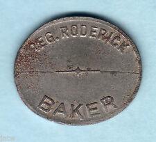 Australia.  BREAD TOKEN. Reg.Roderick - Baker (Kurri Kurri).. gVF