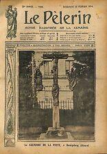 Jésus Christ Calvaire de la Peste à Koenigsberg Alsace WWI 1914 ILLUSTRATION
