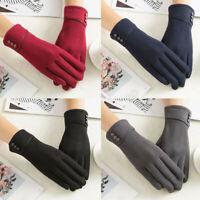 Womens Ladies Winter Warm Gloves Thermal Fleece Wrist Mittens Driving Ski Glove