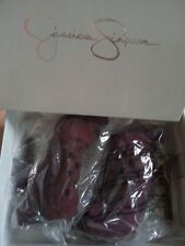 Jessica Simpson ANIECE Platform Peeptoe Heels Deep Burgundy Kidsuede 5.5 M Shoe