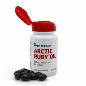 Arctic Ruby Oil - 500mg Calanus Oil Per Soft Gel - 60 Soft Gels - Exp. 06/23