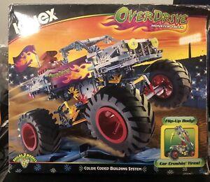 K'Nex Overdrive Monster Truck Builds 3 Models 14138 2001 NIB Read Listing
