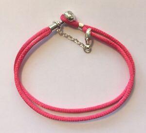 Pandora Moments Fabric Friendship Cord Bracelet Safety Chain READ DESCRIPTION
