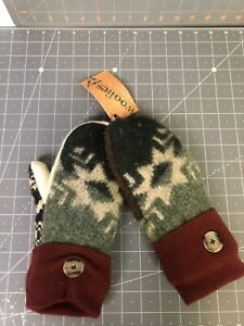 Woolie's Recycled Wool Multicolor Knit Winter Mittens New(NWT)