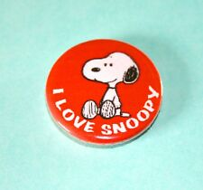 CUTE I LOVE SNOOPY PEANUTS BUTTON PIN BADGE