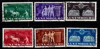 Luxemburg 1951 Mi. 478-483 Gestempelt 100% 80 C, 1. 2. 2.5. 3. 4 Fr