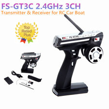 Flysky FS-GT3C 2.4G 3CH Radio Control LCD RC Transmitter & Receiver for RC Toy