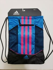 ADIDAS - Alliance II Drawstring Backpack / Sackpack - Blue/Pink / Black