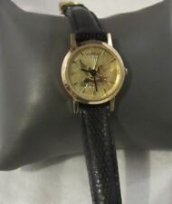 Beautiful Wittnauer Golden Pegasus Watch with Leather Band, F120
