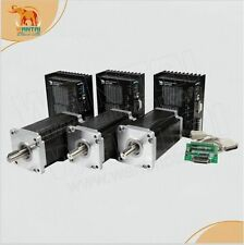 【USA SHIP】3Axis Nema42 Stepper Motor 4200oz-in CNC Driver,230V,8A,110BYGH201-001