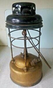 VINTAGE BRASS PORK PIE TILLEY LAMP / LANTERN  X246   1