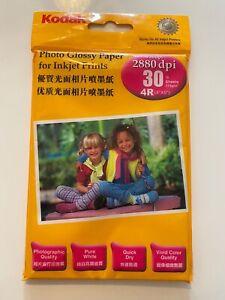 Kodak Photo Glossy Paper For Inkjet Prints 30 Sheets, 4'' x 6''