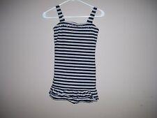 Justice Girls M (12) Black Striped Sundress Shift Dress Embellished Front