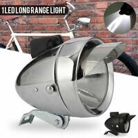 Chrome Vintage Bicycle Retro Classic LED Headlight Bike Front Fog Light Headlamp