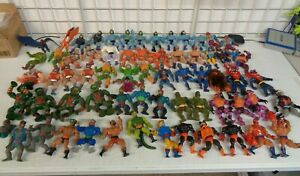 VINTAGE MATTEL MASTERS OF THE UNIVERSE MOTU HUGE USED RANDOM FIGURE LOT HE-MAN