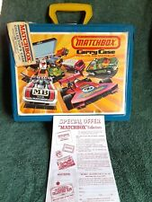 Vtg Matchbox Carry Case 1976 Lesney Toy Tag Collector Mail Paper Nice Complete
