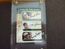 Upper deck # 1 of 25 super golf autograph Jack Nicklaus Arnold Palmer Card rare