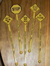 General Aircraft Detroit Traffic Sign Swizzle Sticks Drink Stirrer Stop Dead End
