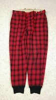 Vtg Woolrich Men's Buffalo Plaid Red Black Lined Hunting Pants 36x31 60s 1960s