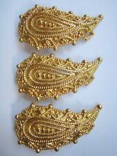 """LADIES/WOMENS ORNATE GOLD TONE, 3.75"""" X 2"""" BELT BUCKLES NEW OLD STOCK, LOT OF 3"""